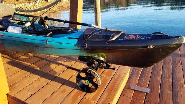 Kayak Cart with kayak