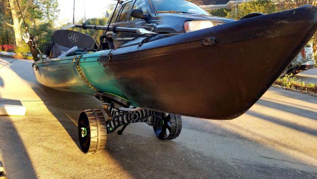 Kayak Pull Cart with kayak