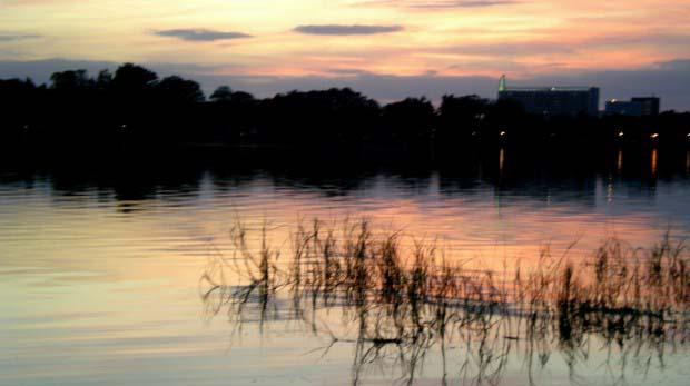 Winter Bass Fishing Sunset