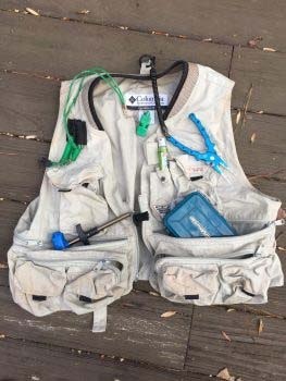 Kayak Fishing Vest with Tools