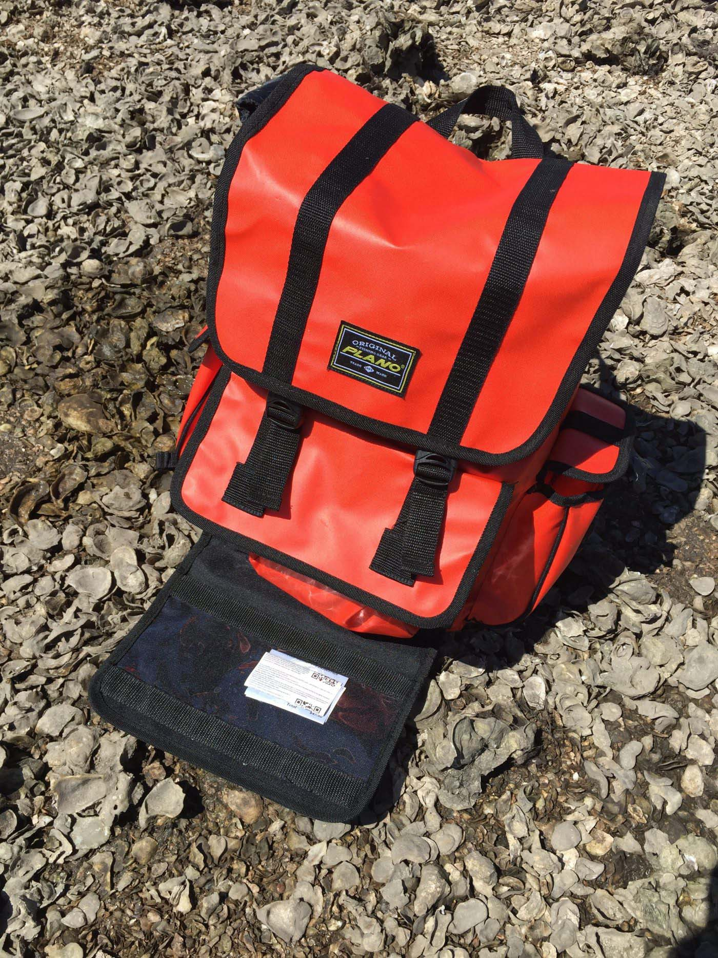 Orange Fishing Backpack