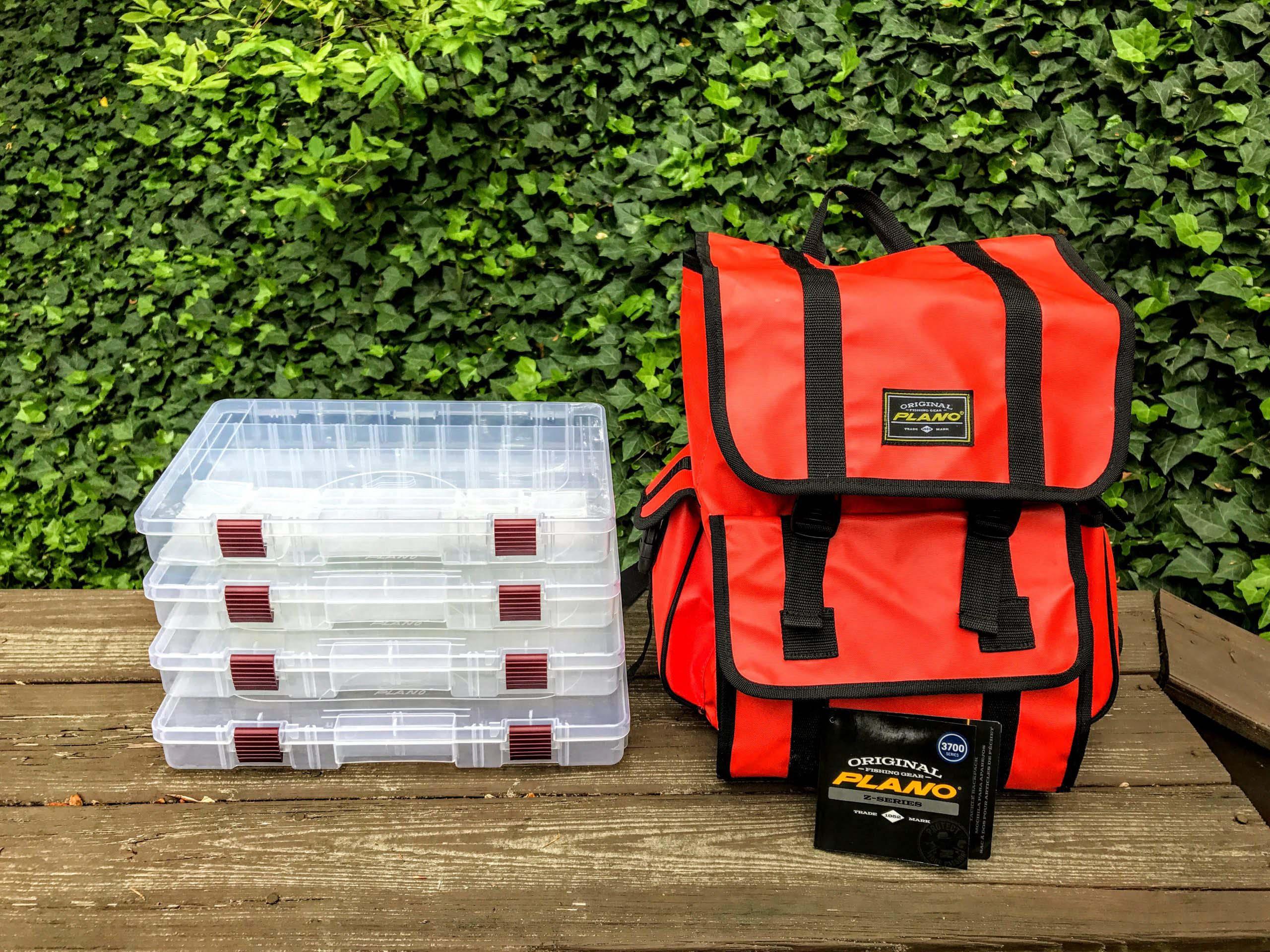 Orange Fishing Backpack