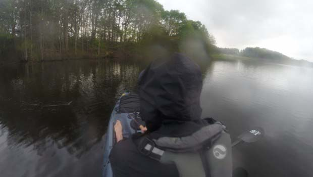 Kayak Fishing Rain