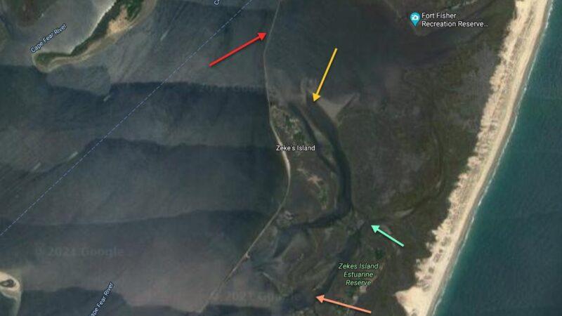 kayak fishing spots