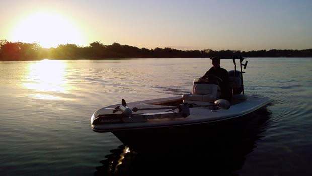 Night Fishing Bass Boat